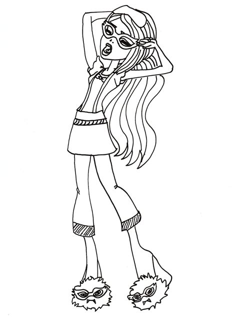 monster high dead tired coloring pages free printable monster high coloring pages ghoulia dead