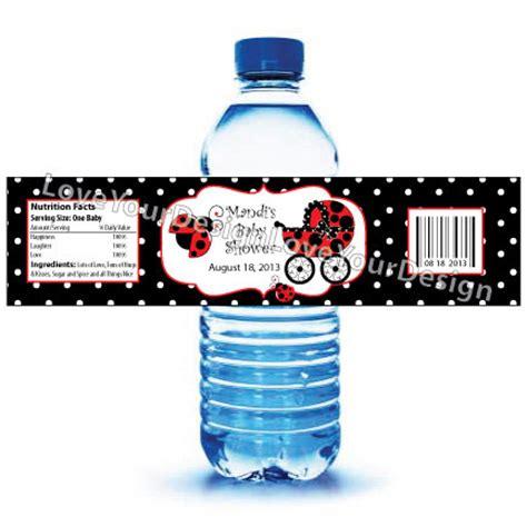 impresion de etiquetas para botellas de agua etiquetas de la botella de agua mariquita para baby shower o