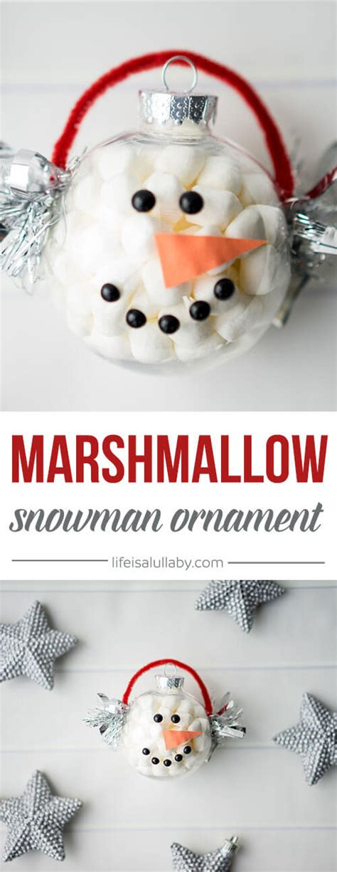 marshmallow crafts for xmas marshmallow snowman ornament an easy craft for