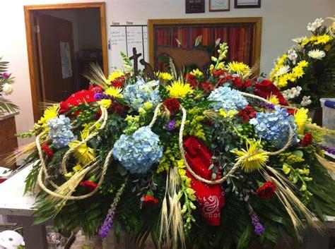 flower arrangement pictures with theme western theme casket spray casket sprays funeral