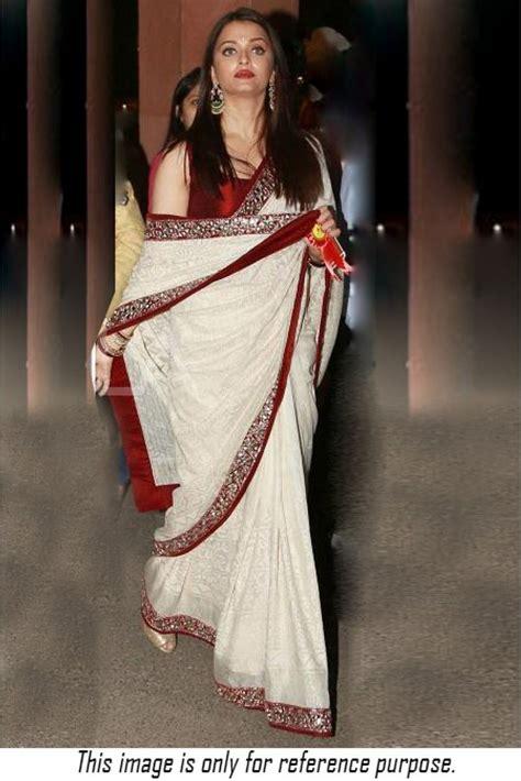 aishwarya rai sari bollywood style bipasha basu cotton and net saree in beige