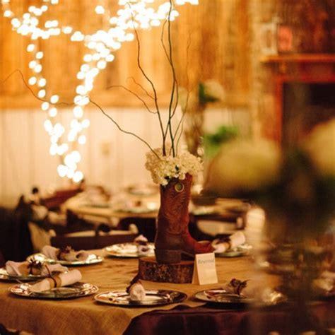 Unique Wedding Idea: Cowboy Boot Centerpieces