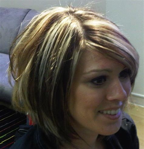 layered hair ash brown with ash blonde highlights or balayage ash blonde hair style short haircut with softening layers