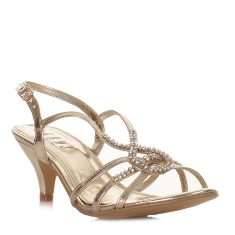 Moda Mio Gold Shoes New With Box womens shoes gold diamante high heel glam platform
