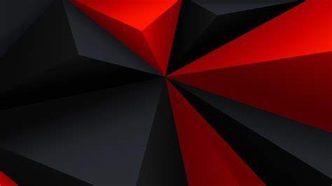 digital art minimalism  poly geometry triangle red