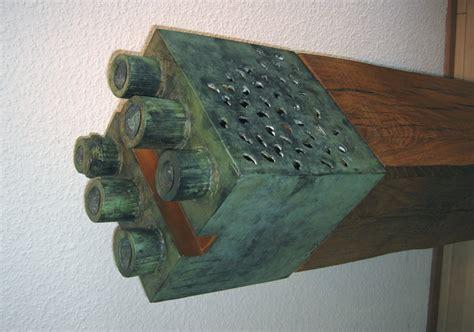 modern art object  bronze  wood