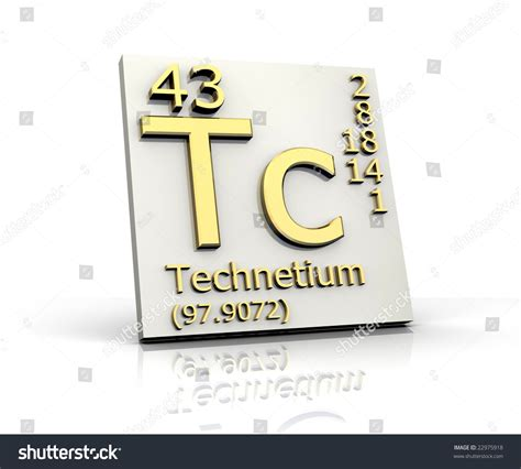 technetium form periodic table of elements stock photo