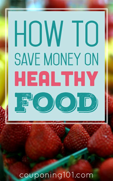 save money  healthy food couponing