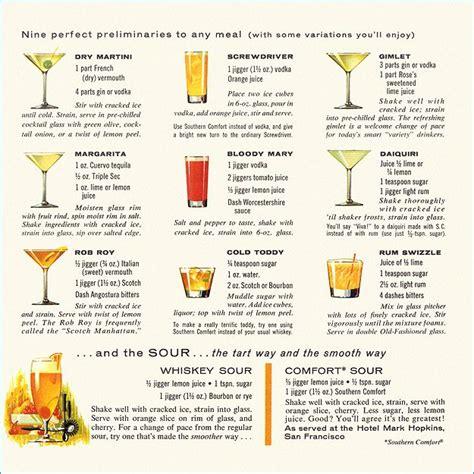 cocktail drinks menu mixed drinks menu