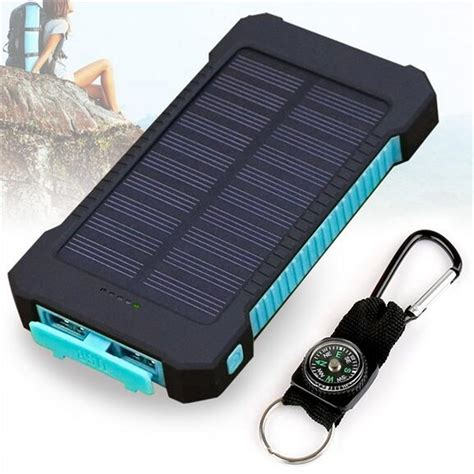 Queenacc Queenacc 10000mah Solar Charger Dual Usb Solar Light Battery Charger