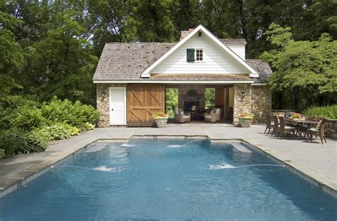 home with pool pool house