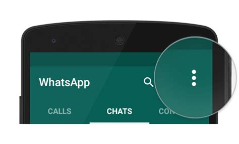 android menu button whatsapp faq where is the menu button