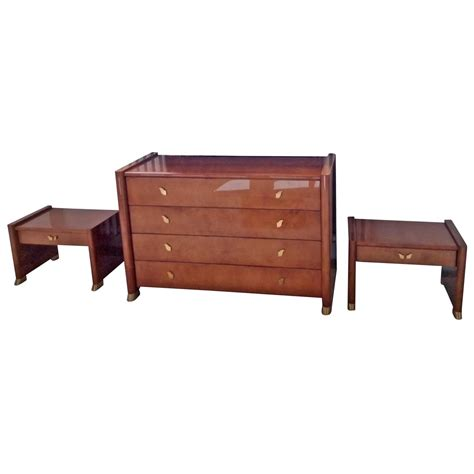 brass bedroom furniture tura 1990s bedroom set goatskin and brass almond