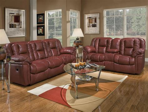 maroon living room burgundy leather transitional living room w recliner mechanism