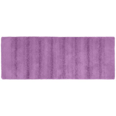 purple bathroom rug garland rug essence purple 22 in x 60 in washable bathroom accent rug enc 2260 09 the home depot