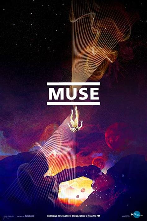 design is my muse slightly trippy gig poster for muse my favorite band i