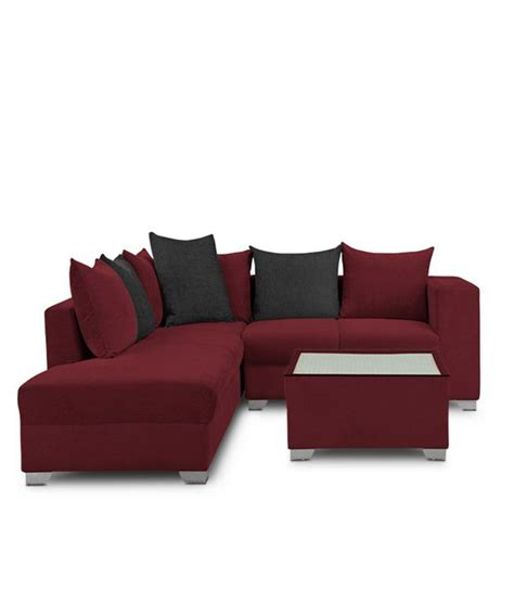 maroon sofa s k furniture mestler maroon sofa set with center table