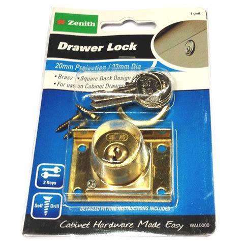 locking drawer slides bunnings zenith drawer lock 20mm brass bunnings