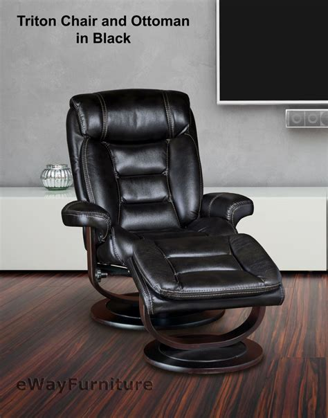 swivel recliner and ottoman black triton swivel recliner and ottoman