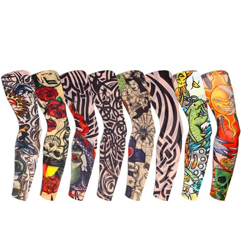 fake tattoo sleeve 8 pcs temporary sleeves arm