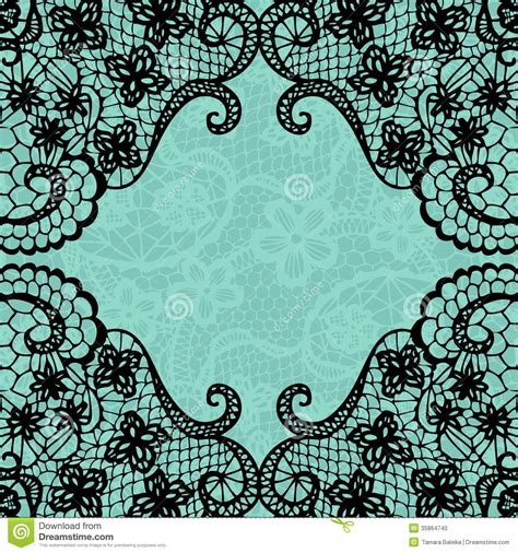 lace templates for card vintage lace invitation card stock vector image 35864740