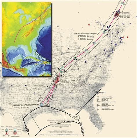 map usa fault lines united states fault lines maps gulf of mexico basin and