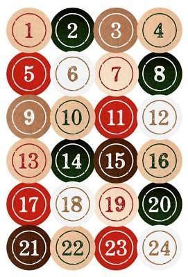 Aufkleber Adventskalender by Adventskalender Zahlen 1 24 Aufkleber Ziffern Sticker