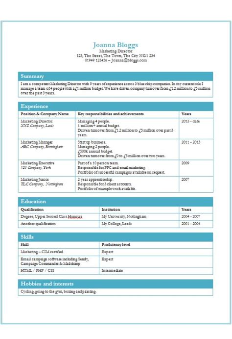 tables cv template free ms word download how to write a cv