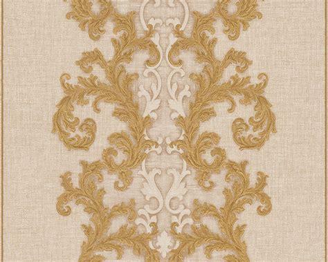 Wallpaper Sticker 10 Meter Vintage Style Merah Gold wallpaper baroque gold as creation versace 96232 3