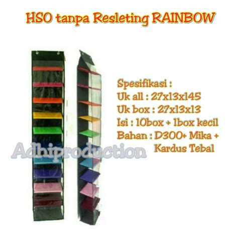 Rak Sepatu Gantung Rainbow jual rak sepatu gantung hso tanpa resleting rainbow