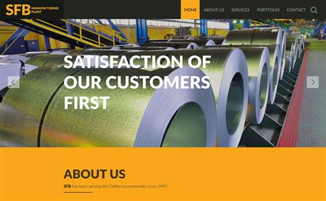 Manufacturing Website Template 53035 Free Manufacturing Website Templates