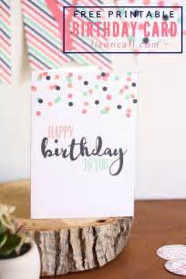 free printable birthday card and a giveaway liz on call