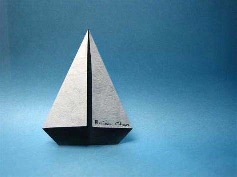Sailboat Origami - my second entry to the 2006 ousa sailing ships challenge