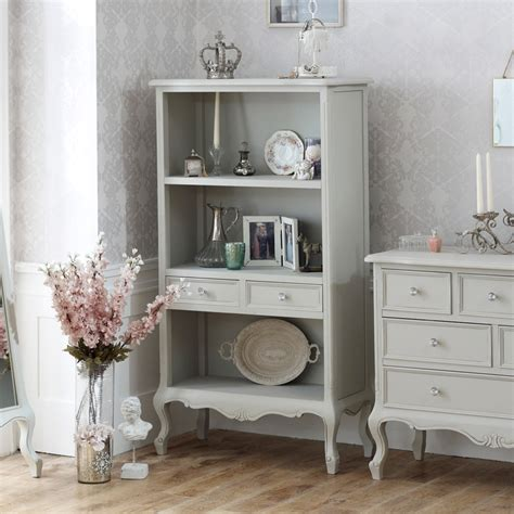 grey bookcase shabby chic living room study