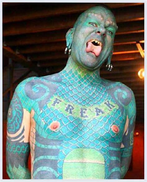 lizard man tattoo with erik the lizardman sprague tattoos