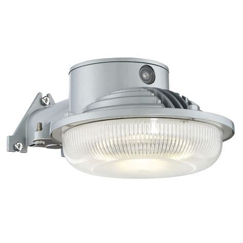 Outdoor Lights Led Envirolite Led Dusk To Single Gray Outdoor Flood Light As3019d40 27 The Home Depot