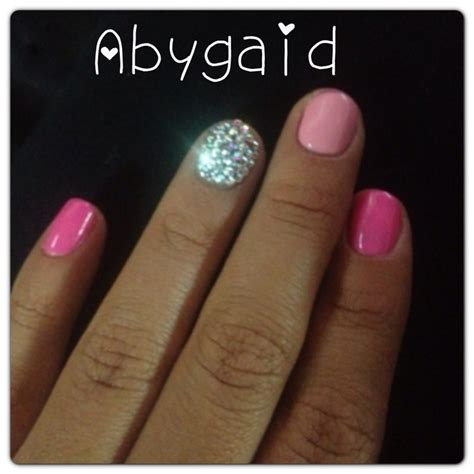 u 241 as de gel plata y fucsia nail gel pink silver youtube u 241 as perfectas brillantes y reforzadas con gelish rosa