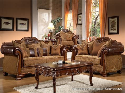 leather and fabric living room sets traditional living room furniture traditional living room sofa sets traditional fabric sofa
