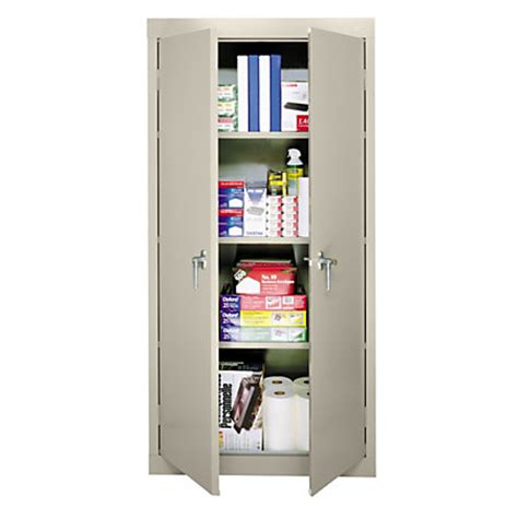 office depot storage cabinet sandusky 30 steel storage cabinet with 3 fixed shelves