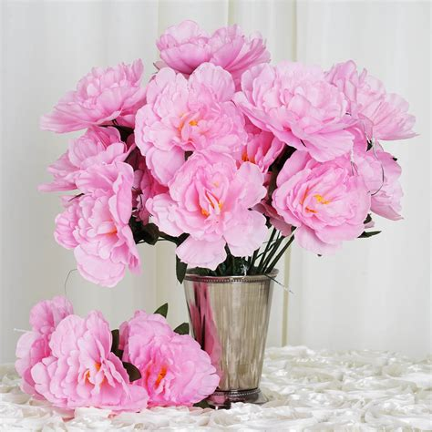 Wedding Bouquet Supplies by 60 Pcs Silk Peony Flowers For Wedding Bouquets