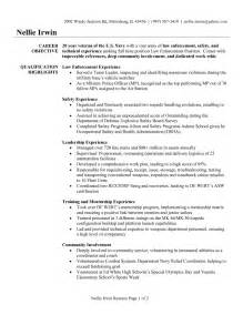 cover letter exles for enforcement resume exle objective for resume exles entry