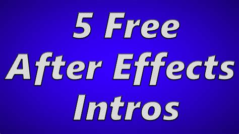 5 free after effects intro templates 2015 free download