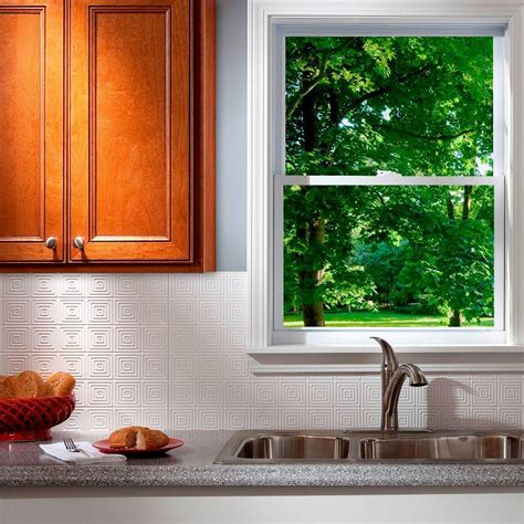 pvc backsplash panel fasade 24 in x 18 in hammered pvc decorative backsplash