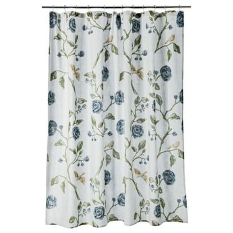 target bird shower curtain threshold floral shower curtain