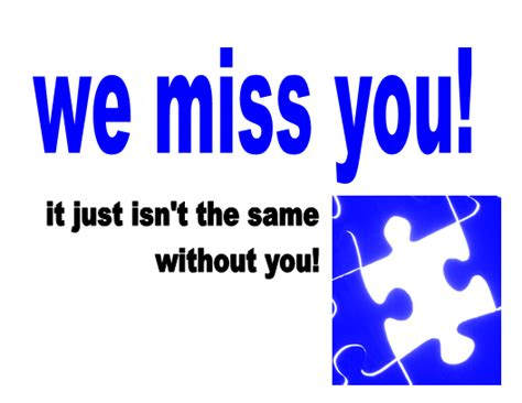 We Miss You Card Template by We Will Going To Miss U Quotes Just B Cause