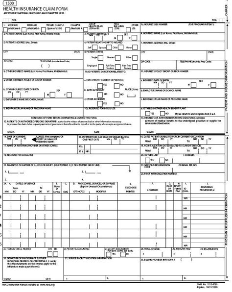 Cms 1500 Form Printable Carisoprodolpharm Com Cms 1500 Version 02 12 Template