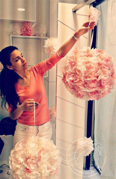 Wedding decoration flower balls Big Peach pink by