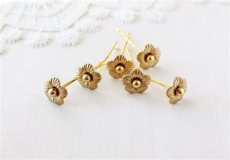Bridal Flower Hair Pin gold bridal hair pins flower bobby pins wedding hair
