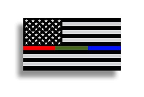 police military  fire thin  usa flag decal american