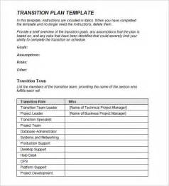 Student Transition Plan Template by Transition Plan Template 8 Free Sles Exles Format